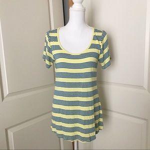 LULAROE Yellow Blue Classic Stripe - Small